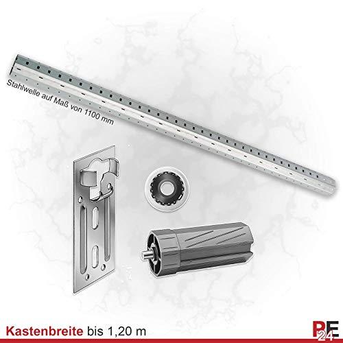 Stahlwelle Rolladenwelle Steckwelle Wellenset für Kästen bis 4,75m | Komplettset SW60 (Verzinkter Stahl, Wellenset bis 120 cm)