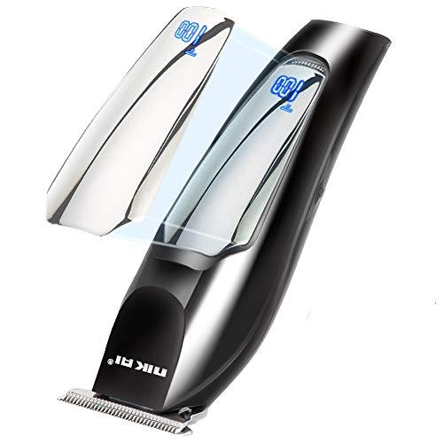 SH.RATE Haarschneidemaschine Profi Haarschneider - 5W Haartrimmer Herren Präzisionstrimmer Bartschneider Bart Trimmer mit LED Display, Wasserdicht,Haarrasierer Set für Kinder und Familien(Schwarz)
