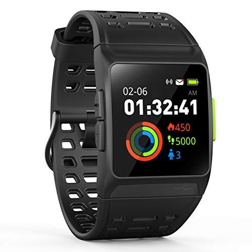 Leotec Smartwatch Unisex Adultos de Digital con Correa en Caucho LESW12K