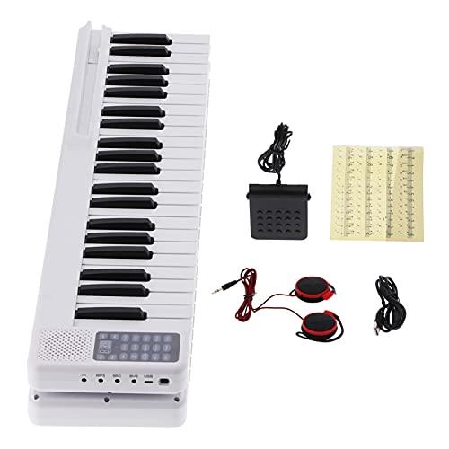 Conexión inalámbrica de piano eléctrico plegable de 88 teclas con batería incorporada...