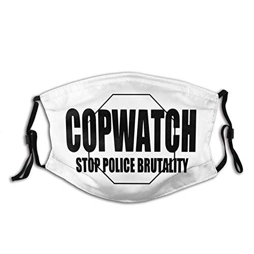 Stop Police Brutality Mascarilla facial reutilizable lavable bufanda anti polvo Bandanas para mujeres y hombres con 2 filtros