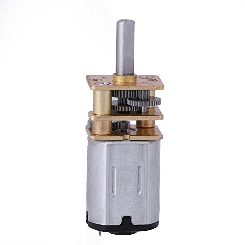 DC Getriebemotor N20 DC 6V Bürsten 50RPM/100RPM elektrischer Micro Drehmoment mit hohem Drehmoment Metallgetriebe für elektrische Ausrüstung des Ventilators MEHRWEG VERPACKUNG (100RPM)
