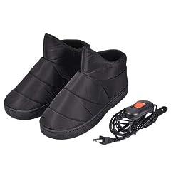 Idea Regalo - Pantofole riscaldate Scaldapiedi per scarpe USB Spina Scarpe riscaldanti elettriche, Riscaldamento elettrico Scaldapiedi invernale Ricarica di artefatti Riscaldamento elettrico Scarpe con controllo