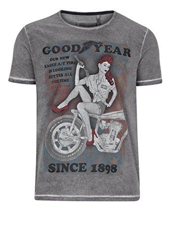 Goodyear T-Shirt Vincent, Größe:XL, Farbe:Vintage Grey