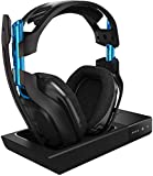 ASTRO Gaming A50 Cuffia con microfono wireless + base di ricarica di terza generazione con audio Dolby Surround 7.1 - Compatibile con PlayStation 4, PC, Mac - Nero/Blu
