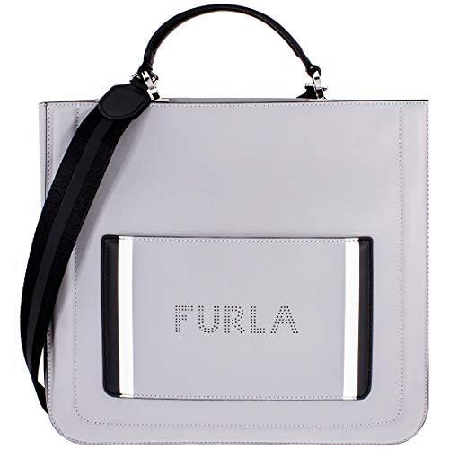 Furla Damen-Handtasche 978568, aus Leder, groß, Grau