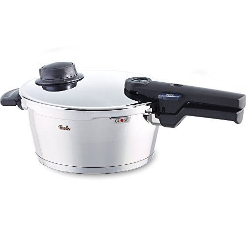 Fissler vitavit comfort Stainless Steel Pressure Cooker 610-300-03-000/0, 3.5 l Pressure Cooker 22 cm Diameter For Induction, Gas, Glass Ceramic, Electric