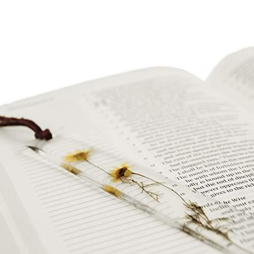 Encased llc Bookmark Resin Floral | Handmade | with Dried Flowers | Artsy (Yellow Chrysanthemum)