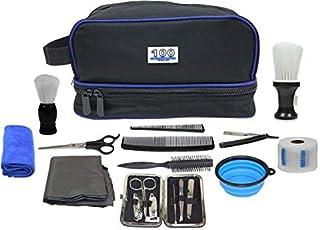 حقيبة خاصة لادوات ومعدات الحلاقة من ون هاندرد، 18 قطعة، عبوة من قطعة واحدة