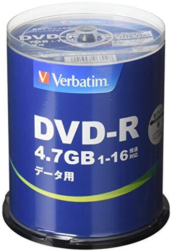 三菱ケミカルメディア Verbatim 1回記録用 DVD-R (片面1層/1-16倍速/100枚) B00CGQR2J8 1枚目