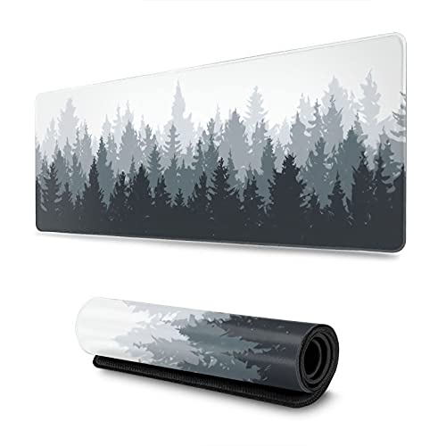 Backwoods Large Mouse Pads Gaming Square Long Novelty Big Computer Gaming Mat for Retouching 3D Pattern Hard Thick Extended XXL with Design Non-Slip Rubber Base Full Desk Mousepad Waterproof 80X30