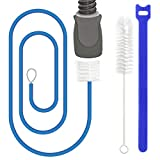 2Pack CPAP Tube Cleaning Brush Supplies for ResMed Heated Tube,Flexible CPAP Hose Cleaning Brush Kit for Standard 15mm/22mm Diameter Tubing&Hose,Include 1xBlue Tubing Brush,1xHandy Brush,5xFixed Strap