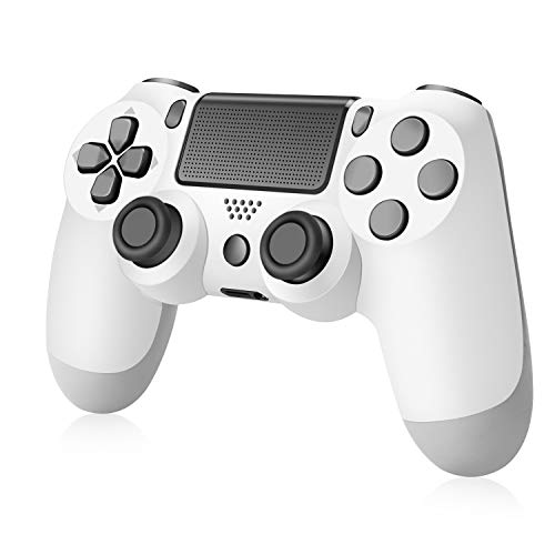 XUANMEIKE Wireless Game Controller Compatible with PS4 Console and Built-in Speaker,Gyro and Motor Remote-White
