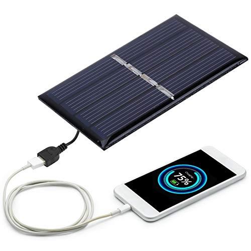 2pcs Fuente de alimentación de Carga al Aire Libre de silicio policristalino 2V 0.28W Panel Solar de energía Mini liviano para Luces de Emergencia, Luces publicitarias