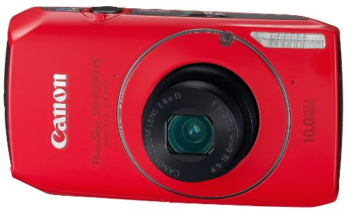 Check Out This Canon PowerShot SD4000IS 10 MP CMOS Digital Camera with 3.8x Optical Zoom and f/2.0 Lens (Red)
