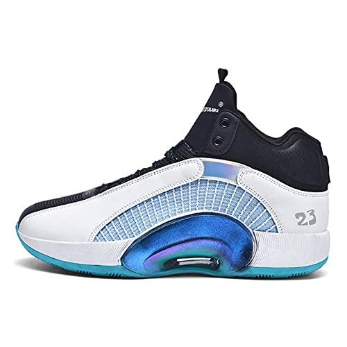 N\C Zapatillas de baloncesto para hombre, deportivas y de ocio para hombre, zapatillas de moda acolchadas, suela gruesa