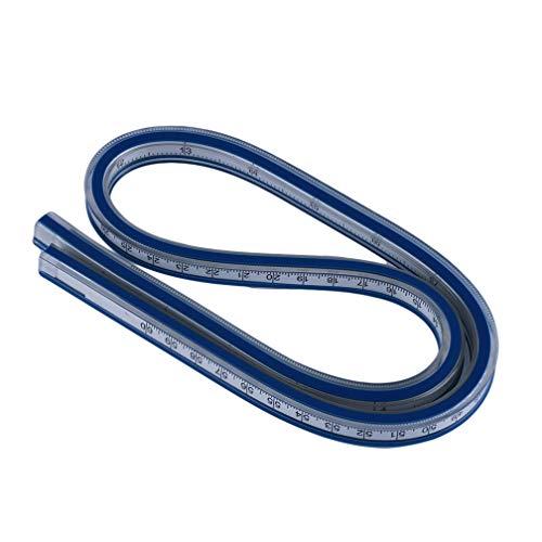 LJSLYJ Holzbearbeitung Schneider Weiche Serpentine Kunststoff Flexible Kurvenlineal Blau Weiß Zeichnung Design Lineal