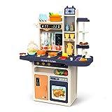 JOYIN Kinder Küchen Spielset, Kinderspielküche mit realistischen Licht & Sounds, Simulation von Spray, Wasch- oder Spülbecken Spielen mit fließendem Wasser, Spielzeug & Sonstiges für Mädchen Jungen