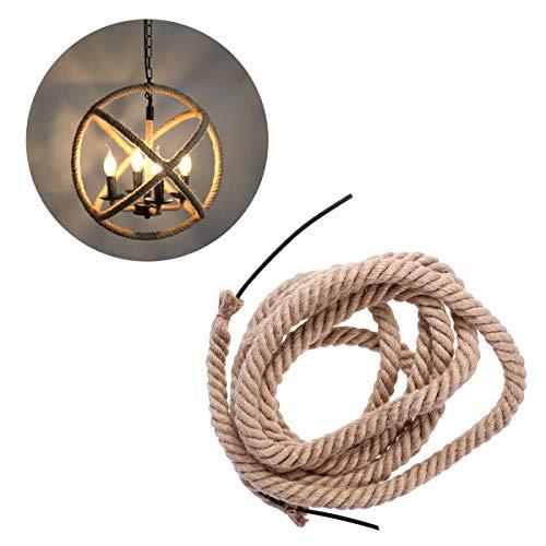 Mobestech 2PCS Cable vintage Cable de cáñamo Cable eléctrico de bricolaje Cable...
