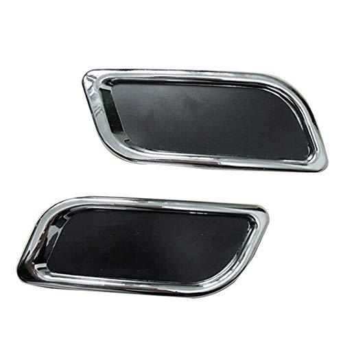 LQIAN Auspuff-Endstück Throat Chrome Aufkleber gepasst Fit for Nissan Mazda Kia Lada Peugeot Passat Auto Dekoration Zubehör Car Styling Neue Autoteile (Color : Black)