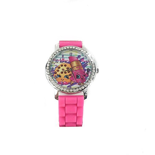 Shopkins Watch with Rhinestones & Ribbed Band in Window Box