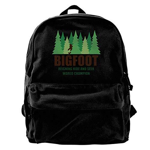 Shoulder Bag Bigfoot Forest Canvas Backpack Gift Print Laptop Backpack Birthday School Lightweight Travel Backpack Unique Shoulder Bags Women Daypack Men Casual Book Cute