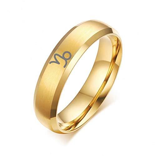 ERDING Mode/Goedkoop/Geschenk/6mm 12 Constellatie Ring Custom Gratis Graveren RVS Band voor Mannen Vrouwen Twaalf Horoscoop Ram Sieraden