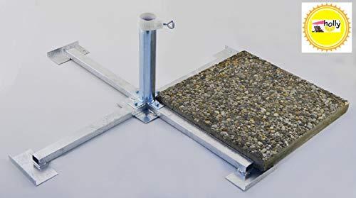 SONNENSCHIRMSTÄNDER aus 4 mm Ø DEUTSCHEM STAHL - STABIELO - BIS 55 mm Ø - 80 µ FEUER VERZINKTER PLATTENSTÄNDER aus Metall für GROSSSCHIRME zum Einlegen von BETONPLATTEN 40 x 40 cm - DER STABIELO ® SONNENSCHIRM PLATTENSTÄNDER für Schirmstöcke bis Ø 55 mm - MADE in GERMANY - Sonnenschirmhalter - HOLLY PRODUKTE STABIELO ® - INNOVATIONEN MADE in GERMANY - holly-sunshade ® - PREISE SO LANGE VORRAT REICHT - LIEFERUNG ohne PLATTEN - PRODUKTE MADE in BADEN WÜRTTEMBERG -