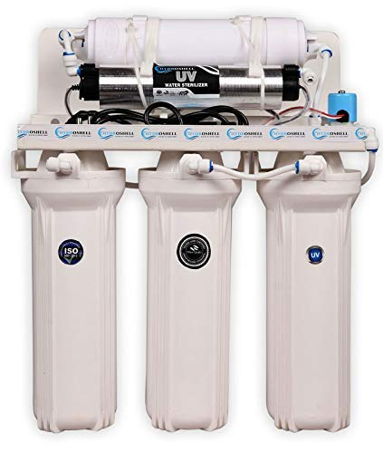 Hydroshell UV Water Purifier 5 Stage Electrical Under sink and Wall Mounted 30-35 litres/Hour (No TDS Reduction, No wastage and No RO)