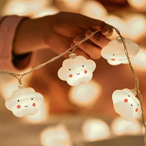 Flycoo2 Lichterketten, 3,5 m, 20 LEDs, Stimmungslicht, Wolkenmotiv, für Kinderzimmer, Party, Hochzeit, Weihnachten, Abend, Dekoration (batteriebetrieben)