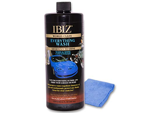 IBIZ Everything Car Wash Soap - Perfect for Cars, Trucks, SUV's, RV's, Boats & More. Best Value Car Wash.
