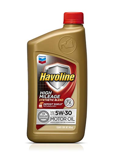 HAVOLINE Chevron, 224107481, Aceite para Motor de Auto, Mezcla Sintética, 5W30 GF5, Color Dorado, 0.946 L (1 QT), 1 Pieza/1 Piece