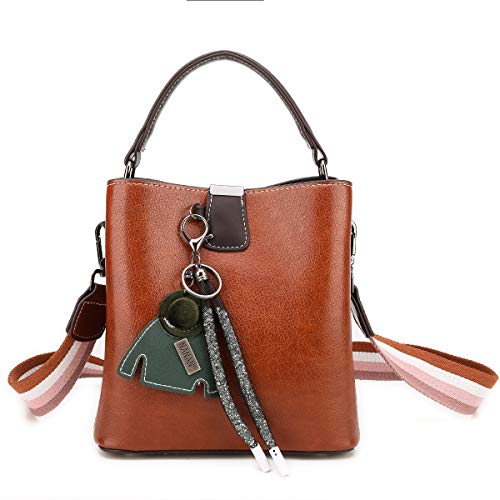 Durable And Well Made -- Made of waterproof, durable, tear-resistant PU leather material, showing a natural appearance like real leather,and easy to clean by wiping. Strong metal hooks can hold more weight, standing up to daily wear and tear for long...