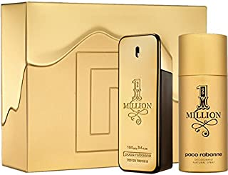 PACO RABANNE ONE MILLION M 2 PC SET Combo pack (3.4 EDT SPR / 5.1 DEO SPR)