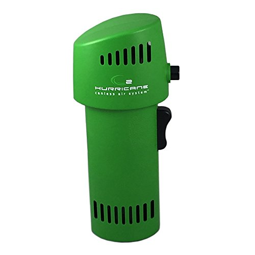 Best Canned Air Alternative - The O2 Hurricane 220+ MPH Canless Air Industrial GREEN is an Inexpensive, Environment Friendly Alternative to Compressed Air/Computer Dusters. Equal to 1000+ cans