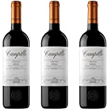 Campillo Crianza Vino Tinto - 3 botellas x 750ml - total: 2250 ml