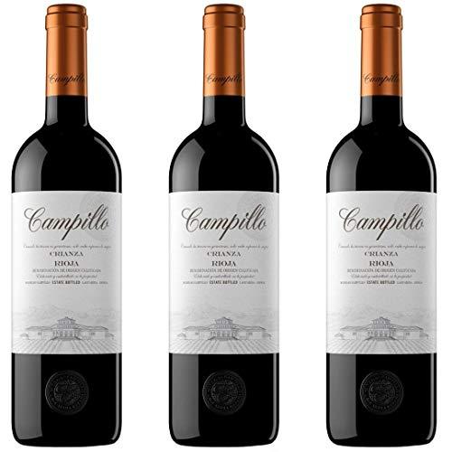 Campillo Crianza Vino Tinto - 3 botellas x 750ml - total: 2250 ml