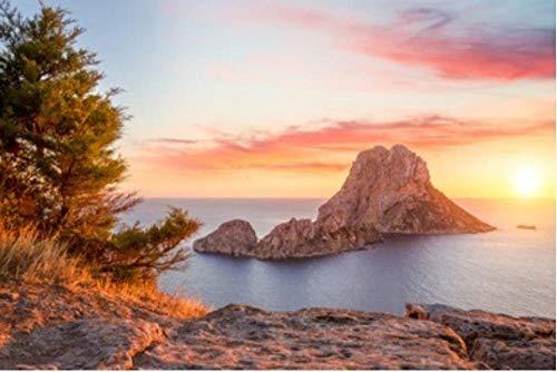 HCYEFG Rompecabezas De 1000 Piezas Es Vedra At Sunset Ibiza Spain para Adultos Adultos Adulto Hobby Decoración del Hogar DIY