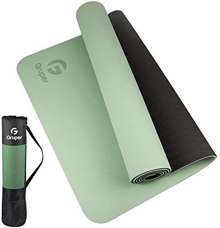 Gruper TPE Yoga Mat Pro Yoga Mat Eco Friendly Non Slip Fitness Exercise Mat with Carrying Strap product image
