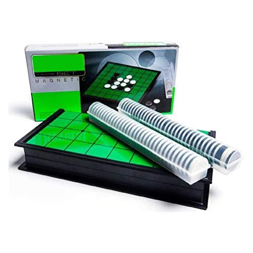 Mankoo Magnetisches Brettspiel (kompakte Reisegröße): Oshello - magnetische Spielsteine, Spielbrett zusammenklappbar, 25x25x2cm