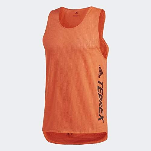 adidas Agr Singlet Camiseta De Tirantes, Hombre, naraut, XS