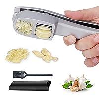 trita-aglio e affetta aglio da cucina, con sbucciatore per aglio, durevole e facile da pulire