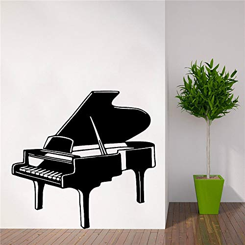 Calcomanía de decoración del hogar de Piano de música moderna para sala de estar, empresa, escuela, oficina, decoración, calcomanías artísticas A7 57x59cm