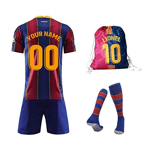 Rainbirth Custom Youth Soccer Jerseys Kids Football Uniforms with Your Name Number Brithday Gifts for Boys/Girls (7-8Years/size22)