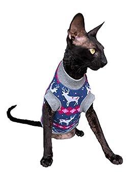 Kotomoda T-shirt chaud pour chat Sphynx nu et sans poil