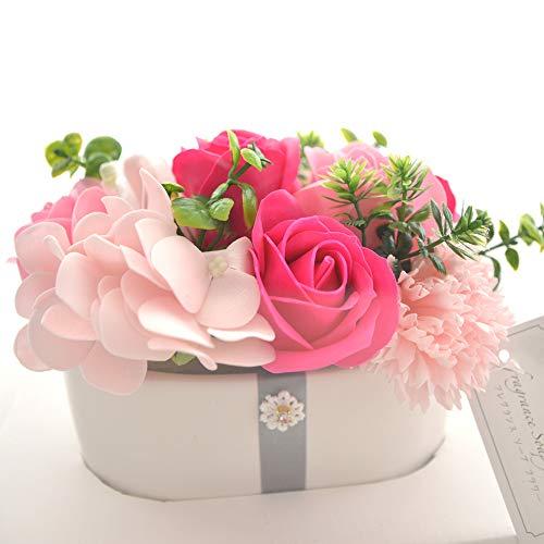 フレグランス ソープフラワー ギフト [ウェンディポット] シャボンフラワー ソープ フラワー プレゼント 石鹸 花 バラ 香る 母の日 誕生日 (ピンク)