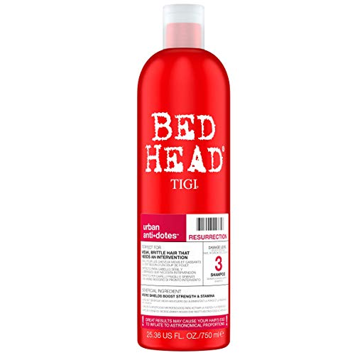 Bed Head by Tigi – Urban Antidotes Resurrection, champú para pelo dañado, 750 ml