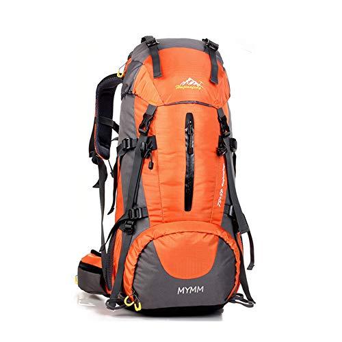 50L Trekkingrucksacke, Outdoor Wanderrucksäcke, ideal für Sport im Freien, Wandern, Trekking, Camping Reisen, Bergsteigen. wasserdichte Bergsteigtasche, Reiseklettern Daypacks, Rucksack (Orange, 50L)