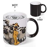 Discoloration Mug ひつじ 羊 ショーン ムービー 変色マグセラミックコーヒーカップ感熱熱変色水カッププリントカップクリエイティブカップ300ml