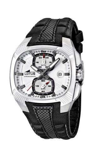 Lotus 15753/1 - Reloj cronógrafo de Cuarzo para Hombre con Correa de Piel, Color Negro